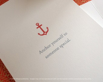 Anchor Valentines, Love, Anniversary, Wedding Card - Someone Special - Delta Gamma