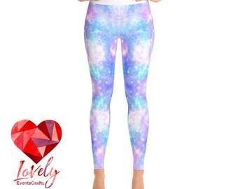 Abstract Yoga Leggings, Printed Leggings, Galaxy Print Yoga Leggings, Womens Leggings, Yoga Leggings, Workout Leggings,  Fashion Leggings,