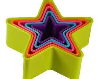 Multi Color Star Cookie Cutter Set