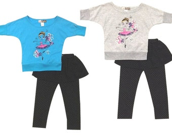 3892- 2PC GIRLS toddler dancing ballerina