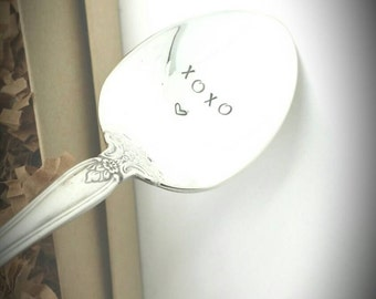 XOXO -Hand Stamped Spoon -Hugs and Kisses -Gift for Daughter, Gift for Boyfriend, Gift for Girlfriend, Gift for Wife, Gift for Husband