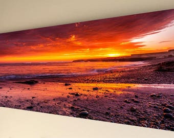 Panorama Canvas Wall Art - Sunset #5 [A12] - choice of size
