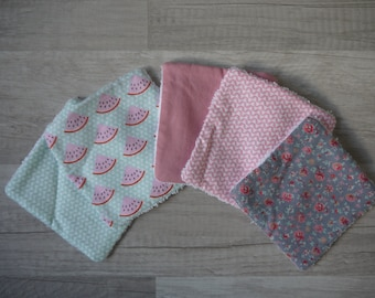 Set of 5 square washable cotton baby