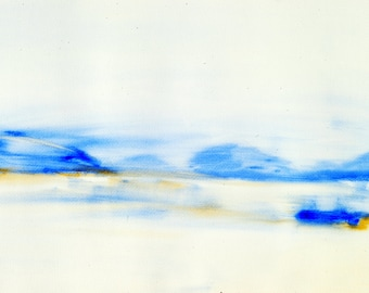 "Watercolor ""Morning Lake"""