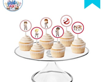 Ghostbusters Cupcake Toppers, Ghostbusters Birthday Party, Girl Ghostbusters