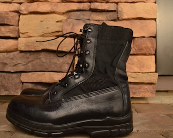 Vintage Black Combat Army Boots Size 7 Mens Womens 10 Like New