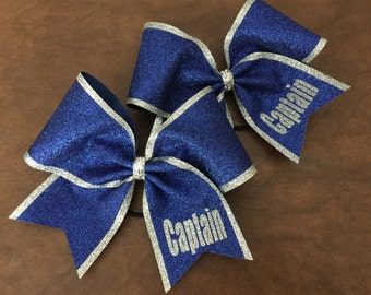 Cheer Bow - Captain (one bow, ANY COLORS)