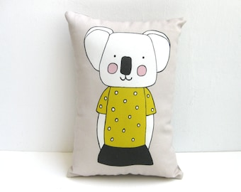 Koala Cushion, Koala Throw Pillow, Koala Pillow, Animal Cushion, Animal Pillow, Decorative Cushion, Decorative Pillow