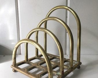 Vintage brass mail organizer