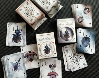 Beetle Playing Cards Double Set (4 Decks): Beetle Royale Premium Poker Playing Cards