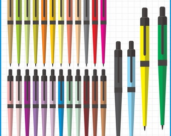 ink pen clipart, instant download PNG files