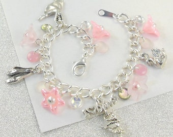 Dance Recital Charm Bracelet for Girls   --  Donna  --