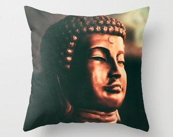 Zen, Buddha pillow, Soft Decorative throw pillow, Meditation pillow, photography pillow case, yoga studio, spa decor, unique home accent