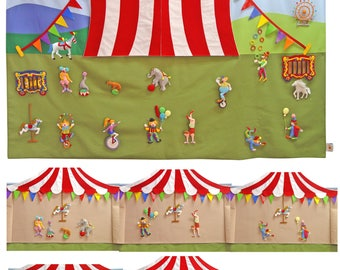 Circus  /Giant wall hanging size 85x150 cm.