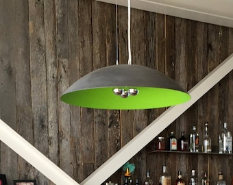 "Extra Large 30"" Diameter Steel Dome Pendant Light, custom color"