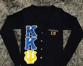Extra Small ΚΚΨ cardigan - ready to ship