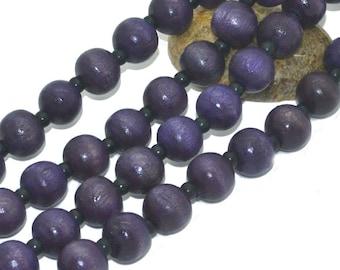 1 strand of 100 08mm purple wood beads