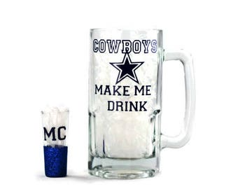 Personalize Football Beer Glass