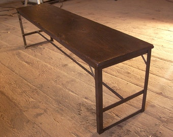 Industrial Chic Bench from Reclaimed Wood and Metal