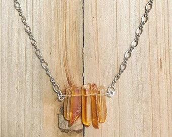 Tangerine Aura Quartz, orange, crystal, healing, metaphysical healing