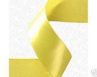1/8x 100yds satin ribbon - YELLOW
