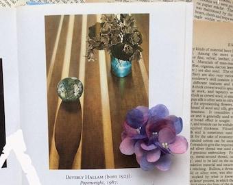 Petals&Poems silk flower brooch