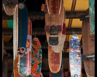 Skateboards Photograph--Movin' On--5x5 Fine Art