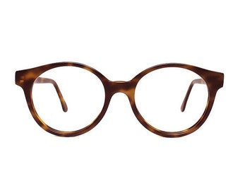 brown tortoise round glasses - large vintage eyeglasses for him and her - oversized eye glasses frames - sting matte brown