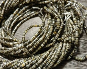 Dark Brown Shell Heishi Beads 7