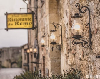 Italy Photograph, Ristorante Remo, European Photography, Castle, Siena