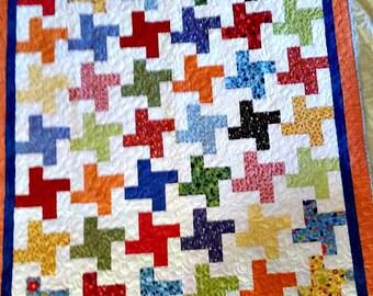 Quilt Pinwheels on White