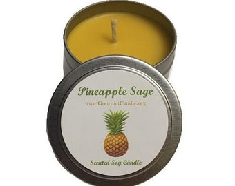 Cheap Mothers Day Gifts   Inexpensive Gifts for Mom for Mothers Day   Pineapple Sage Scented Soy Candle Gift - Earthy Candle