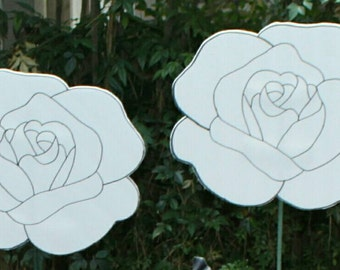 Paintable white roses/ alice in wonderland party craft/game/decoration