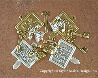 Realtor Charms Mixed Lot - 12 Pieces