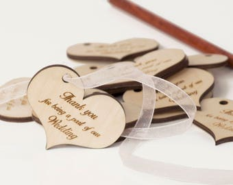 Thank You Tags Wedding -  Set of 30 -Wedding Favors Wood - Baptism Favors - Wedding Favor Tags - THANK YOU Tags - Bridal Thank You Tags