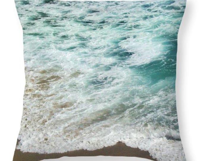 "Decorative Throw Pillow ""Ocean Meets Beach"""