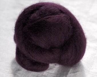 Merino Wool Top 100%, Needle Felting Wool, Wool Roving, Hand Spinning, Ninja Purple, Merino Wool Felt, High Quality Soft Merino Wool, mw86