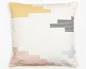TAPESTRY CUSHION - Cushion Cover by Depeapa, organic cotton pillow case, decorative cushion, pastel colors, Geometric Cushion