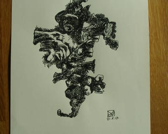 Abstract drawing in ink
