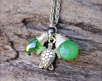 Sea Turtle Necklace made in Hawaii - Hawaiian Jewelry Sea Turtle Jewelry from Hawaii Hawaiian Honu Necklace - Ocean Inspired Hawaii Jewelry