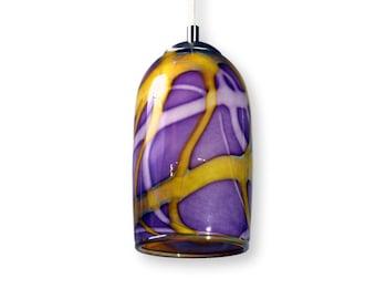 Amethyst Purple  Milky Way Hand Blown Glass Ceiling Pendant Light Interior Lighting