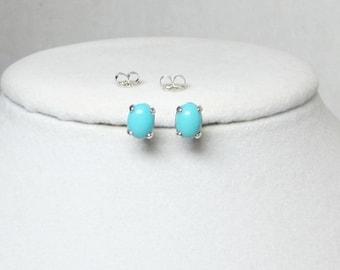 Sleeping Beauty Studs - Turquoise Earrings - Arizona Turquoise - Jewelry