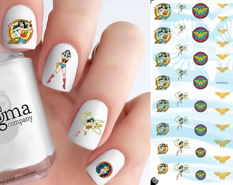 Classic Wonder Woman Nail Decals (Set of 52)
