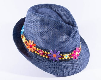 "Beach hat ""Aster"",fashion trends,woman fedora hat, summer hats, Fashion accessories, summer outfits, hat, woman hats, embellished woman hats"