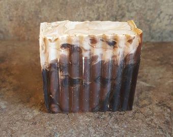 Vanilla Bean Soap, Cocoa Soap, Chocolate Vanilla Soap, Handcrafted Soap, Cold Process Soap, Marble Soap, Moisturizing Soap, Ice Cream Soap