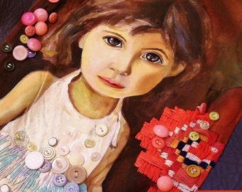 "Sweet Innocence Short Dress - ""BURANO"" Collection by Irina MADAN / Hand Painted & Embroidered / 100% Handmade Dress"