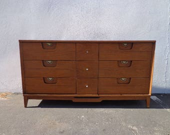 Mid Century Dresser Cabinet Buffet Danish Modern Sideboard Media Console Sideboard Table Credenza Storage Vintage Dresser CUSTOM PAINT AVAIL