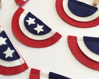 July 4th Banner- 4th of July Banner- 4th of July Garland- Patriotic Banner,4th of July Bunting- Independence Day Banner- Patriotic
