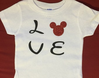 Disney Love Tee for infants and adults
