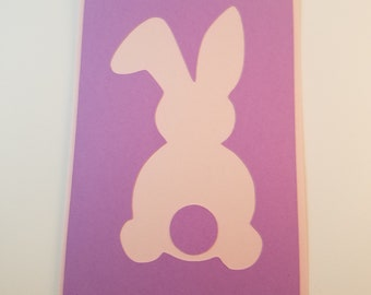 Hoppy Easter Bunny Card - Easter Card - Happy Easter Card - Just a Note - Easter Bunny Card - Cute Easter Card - Handmade Greeting Card